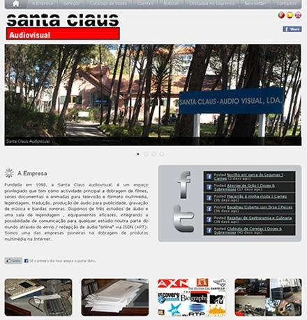 Novo Site Santa Claus Audiovisual